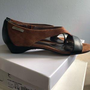 Calvin Klein Bennie Suede/Napa shoes in Cognac!!